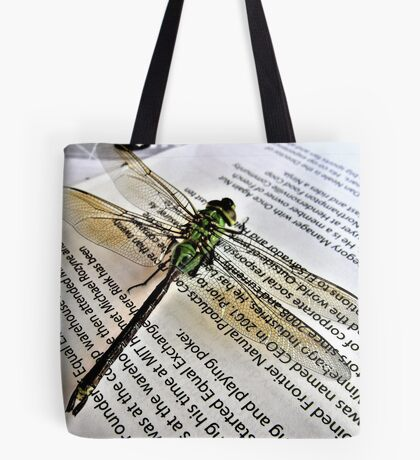 A Scholarly Dragonfly Tote Bag
