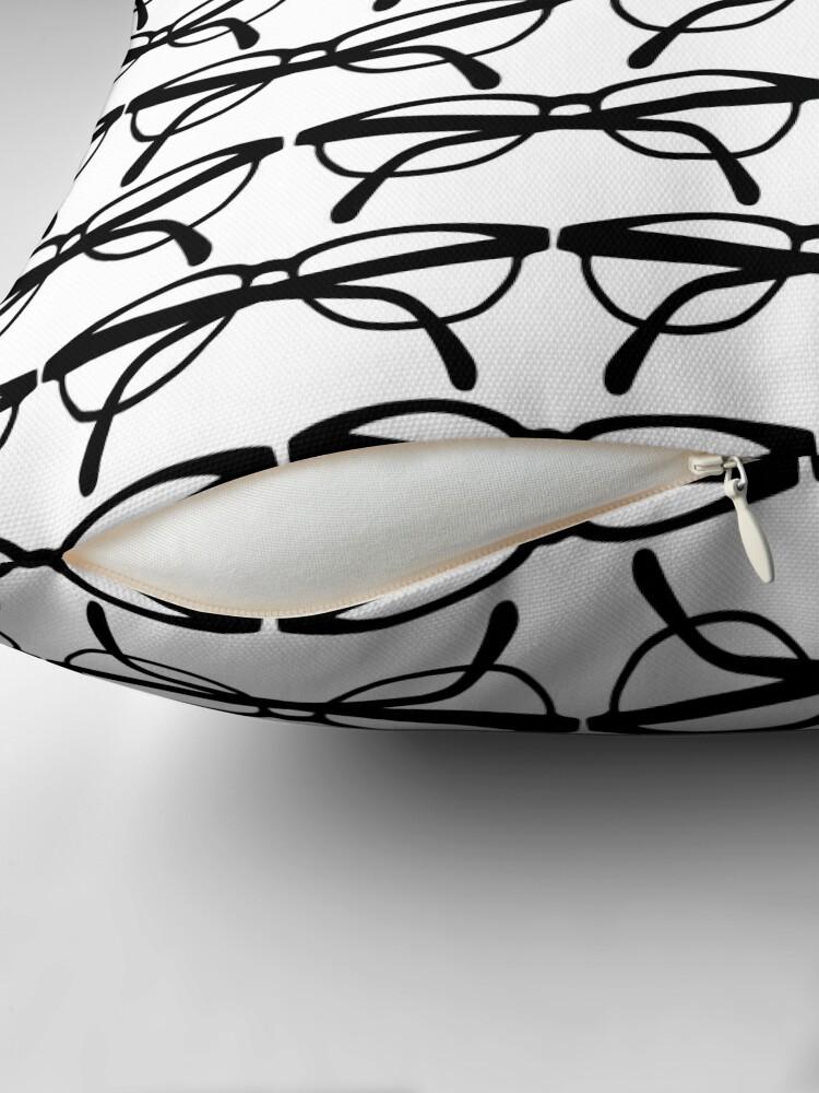 Alternate view of Optometrist Eye Glasses Frames Pattern Print Throw Pillow