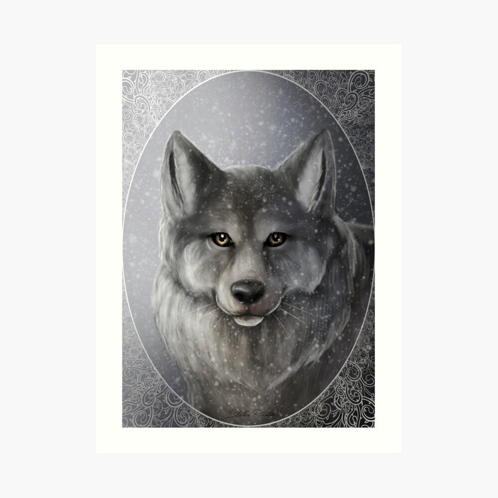 Loup Impression artistique