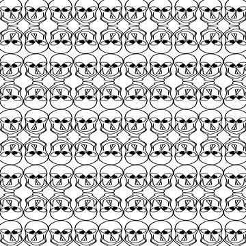 Purple & black skulls pattern by andersonartist