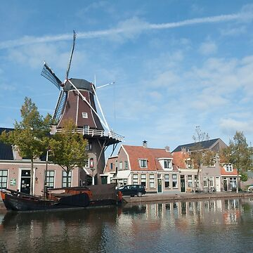 "Meppel Drenthe The Netherlands Windmill Molen ""De Vlijt"" in the centre of town. by stuwdamdorp"