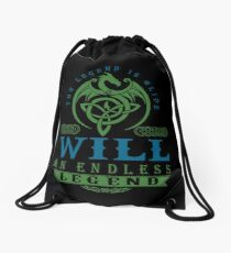 Legend T-shirt - Legend Shirt - Legend Tee - WILL An Endless Legend Drawstring Bag