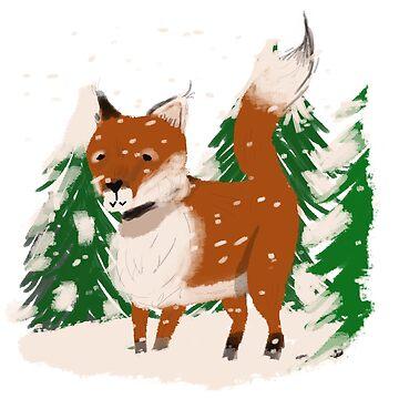 Snowy fox by Autumn-Winter