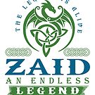 Legend T-shirt - Legend Shirt - Legend Tee - ZAID An Endless Legend by wantneedlove
