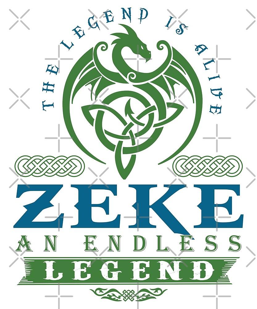 Legend T-shirt - Legend Shirt - Legend Tee - ZEKE An Endless Legend by wantneedlove