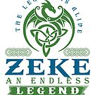 Legend T-shirt - Legend Shirt - Legend Tee - ZEKE An Endless Legend by wantneedlove