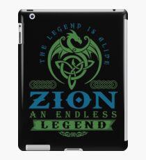 Legend T-shirt - Legend Shirt - Legend Tee - ZION An Endless Legend iPad Case/Skin