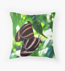 Orange Banded Butterflies - Cockrell Butterfly House Throw Pillow