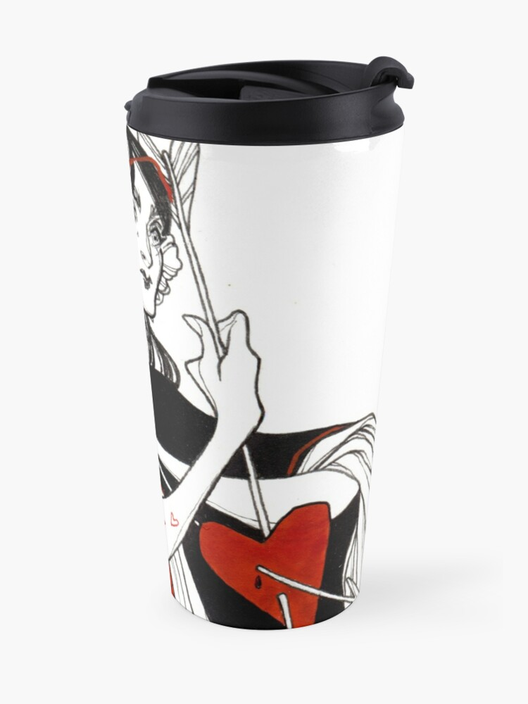 Alternate view of Queen of Hearts Travel Mug