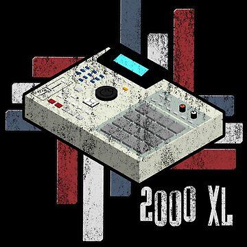 Mpc 2000 XL Drum Machine Analog vintage distressed Look by mewzeek-T
