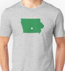 Iowa Love in Green Unisex T-Shirt