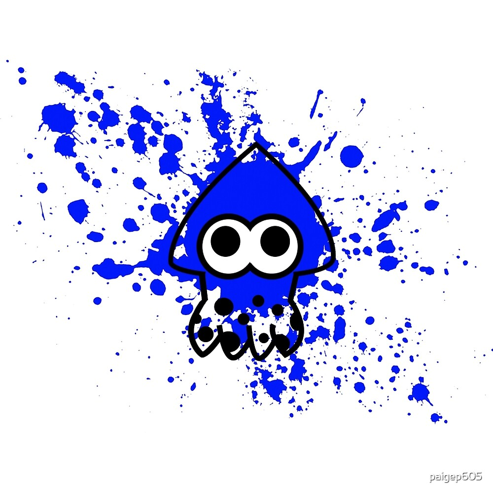 Splatoon Squid Blue by paigep605