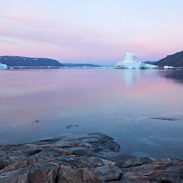 Iceberg in midnight sun, Ilulissat, Jakobshavn glacier, Disko Bay. Greenland  by PhotoStock-Isra