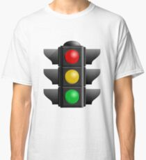 A traffic light with red, yellow and green lights Classic T-Shirt