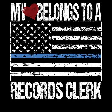 My Heart Belongs To A Records Clerk by FairOaksDesigns