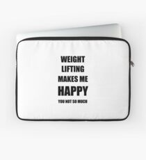 Weight Lifting Lover Fan Funny Gift Idea Hobby Laptop Sleeve