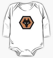 wolverhampton wanderers Logo T Shirt One Piece - Long Sleeve