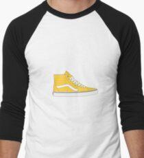 Yellow Old Skool High Top Vans Men's Baseball ¾ T-Shirt