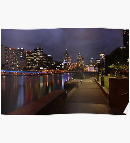 Melbourne after dark Poster