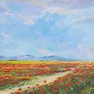Poppy Field by Sinisa Saratlic