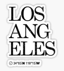 Los Angeles City Koordinaten Artwork Länge und Breite Sticker