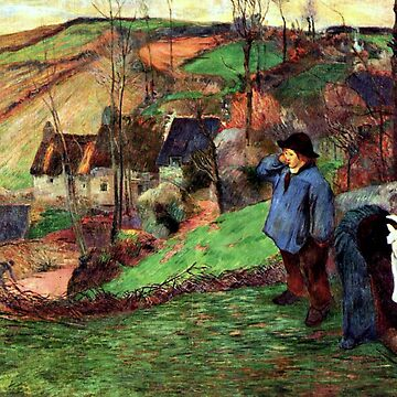 Landscape of Brittany by Paul Gauguin by virginia50