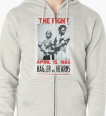 Hagler vs. Hearns Zipped Hoodie