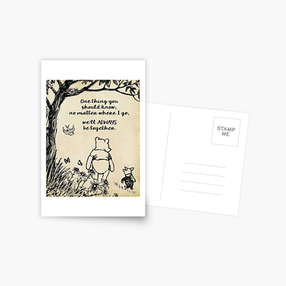 Winnie the Pooh - Wir werden immer zusammen sein Postkarte