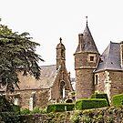 Chapel & Josselin Castle Entrance   - Josselin, Morbihan, Brittany, France by Buckwhite