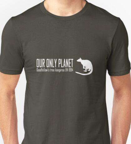 Endangered animals - Goodfellow's tree kangaroo Our only planet white print T-Shirt
