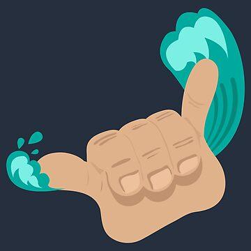 Surf - Shaka Sign Hang loose - Gift idea by vicoli-shirts