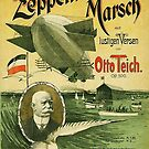 Zeppelin March ...vintage Music Sheet Cover by edsimoneit
