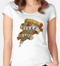 Pizza is Life Fitted Scoop T-Shirt