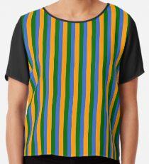 bert stripes Chiffon Top