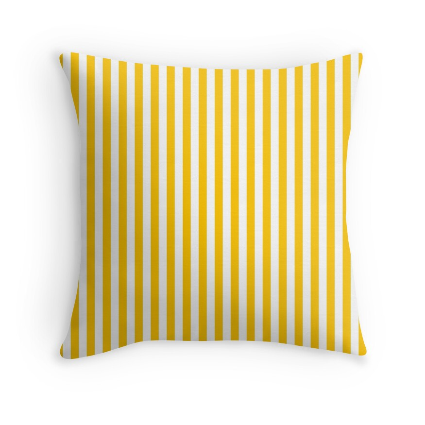 Aspen Yellow Gold and White Thin Vertical Deck Chair Stripe