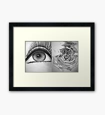 Eye and Flower Diptych Framed Print