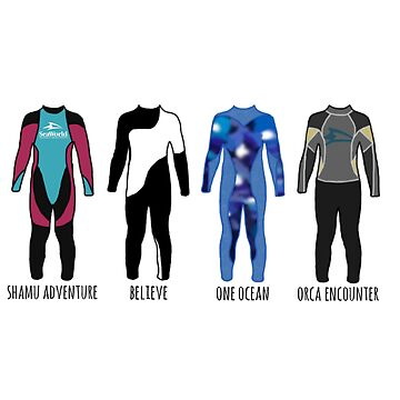 Shamu Stadium Wetsuits--With Show Names by stuffsaralikes