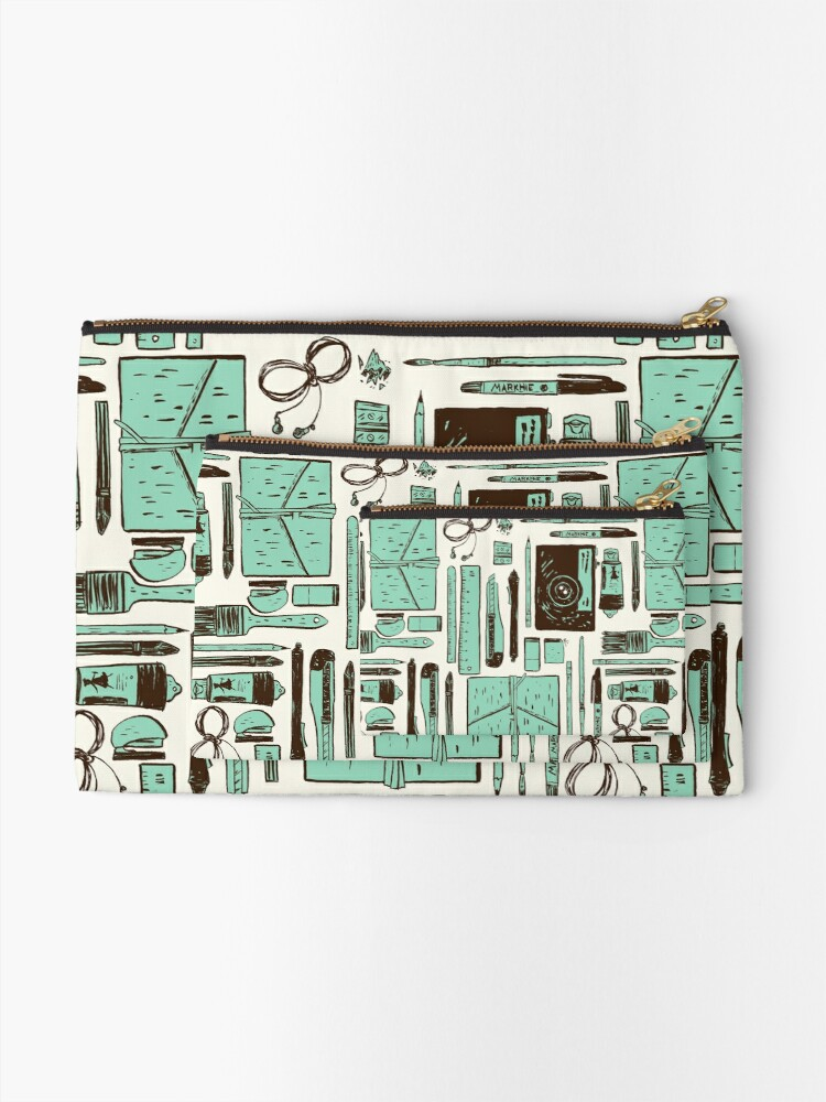 Alternate view of Artist's tools of trade Zipper Pouch