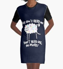 Don't Herd Me Graphic T-Shirt Dress