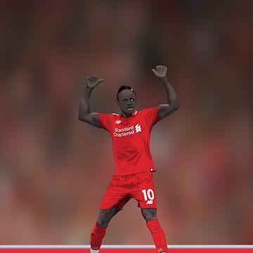 Sadio Mane Celebrates - Liverpool FC by talklfcpodcast