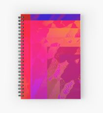 Fuchsia Abstract Spiral Notebook