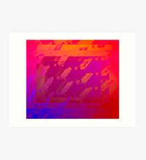 Fuchsia Abstract Art Print