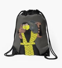 GET OVER HERE AND LISTEN TO THESE DOPE BEATS Drawstring Bag
