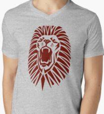 Roaring Lion Of The African Tribe Men's V-Neck T-Shirt