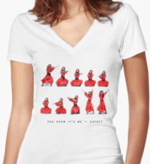 Kate Bush - Wuthering Heights Dance Women's Fitted V-Neck T-Shirt
