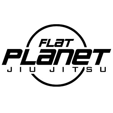 Flat Planet Jiu-Jitsu Logo Black by MillSociety