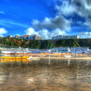 Tolcarne Beach Newquay in HDR by hawkie