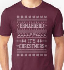 Ermahgerd, ugly christmas sweater, girl, ermahgerd stuff, funny meme ermahgerd, hilarious ermahgerd, irmagerd, oh my god, sarcastic ermahgerd Unisex T-Shirt