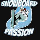 Snowboard Shirt Passion Winter Gift by Rueb