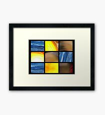 abstract polittico Framed Print